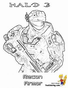 Big Man Halo 3 Coloring Pages Halo 3 Free Halo 5