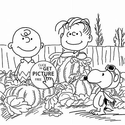 Coloring Pumpkin Pages Pumpkins Charlie Brown Printable