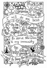 Brownie Brownies Promise Scout Guides Sheet Activities Coloring Guide Colouring Girlguiding Law Scouts Crafts Thinking Daisy Buxton Pages Rainbow Sheets sketch template