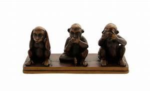 Statue Singe De La Sagesse : 3 singes de la sagesse resine statue artisanat h6cm ~ Teatrodelosmanantiales.com Idées de Décoration