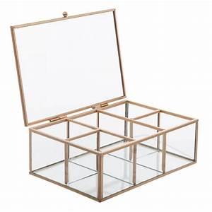 Boite A Bijoux En Verre : bo te bijoux en verre essential mood 20cm or ~ Farleysfitness.com Idées de Décoration