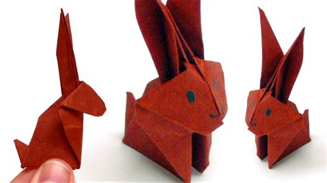 origami tiere falten  hase bunny youtube