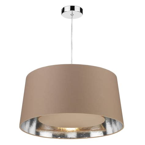 bugle easy fit non electric taupe ceiling light shade