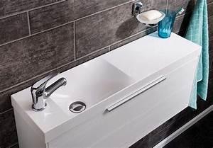 Handtuchhalter Für Gäste Wc : g ste wc waschbecken spiegel und m bel von fackelmann ~ Frokenaadalensverden.com Haus und Dekorationen
