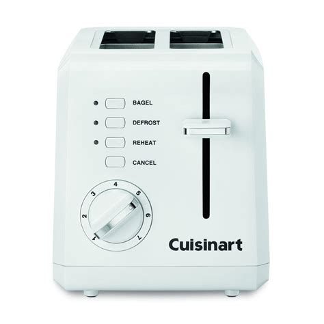 cuisine arte cuisinart 2 slice white toaster cpt 122 the home depot