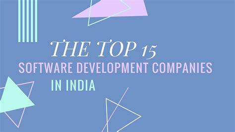 top  software development companies  india
