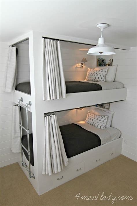 Bunk Bed Drapes - how to create dreamy bedrooms using bed curtains