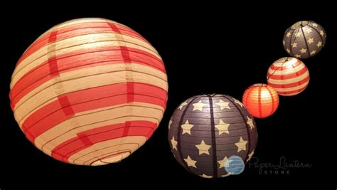 paper lantern string lights patriotic 4th of july and stripes paper lantern