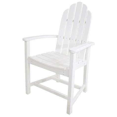 White Adirondack Chair Home Depot by Polywood Classic White Adirondack All Weather Plastic