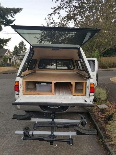 tundra sleeping platform platform extension  place truck bed camping truck tent truck