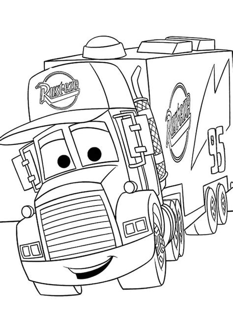 Kleurplaat Mc 2 by Coloring Pages All Cars 2 Coloring Home