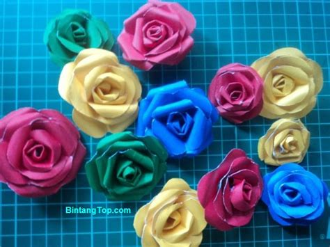 tutorial kerajinankreasi bunga  berbagai bahan