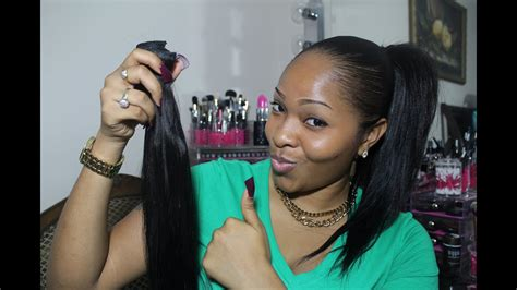 High & Low Ponytail Using Clip In Extensions (vp