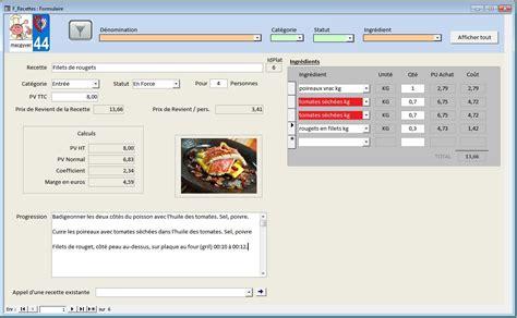 logiciel fiche technique cuisine davaus modele fiche recette cuisine word avec des