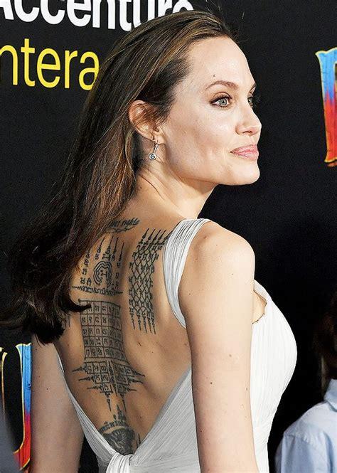 angelina jolies  tattoos    meanings