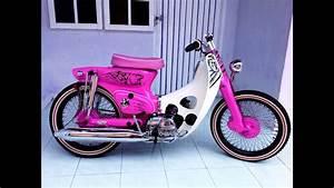 Street Cub Honda C 800 Astrea Painting Pinky Bear