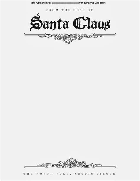 santa letter template  printable
