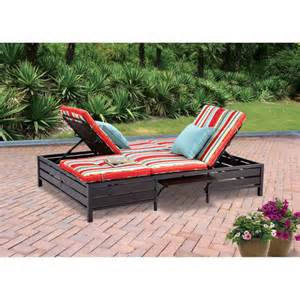 mainstays double chaise lounger stripe seats 2 walmart com