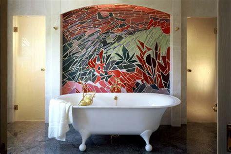 destockage mosaique salle de bain une mosaique en d 233 cor dans une salle de bain vue
