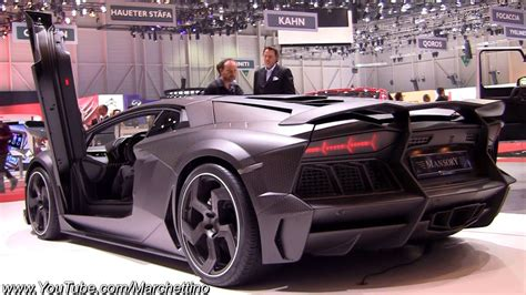 full carbon mansory lamborghini aventador lp  youtube