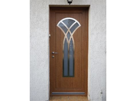 photos de portes d entr 233 e bois et pvc ton bois par tryba artibaie