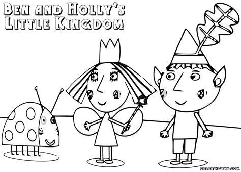 Ben And Holly - Free Coloring Pages