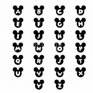 15 mickey mouse head font images free mickey mouse ears With mickey mouse alphabet letters