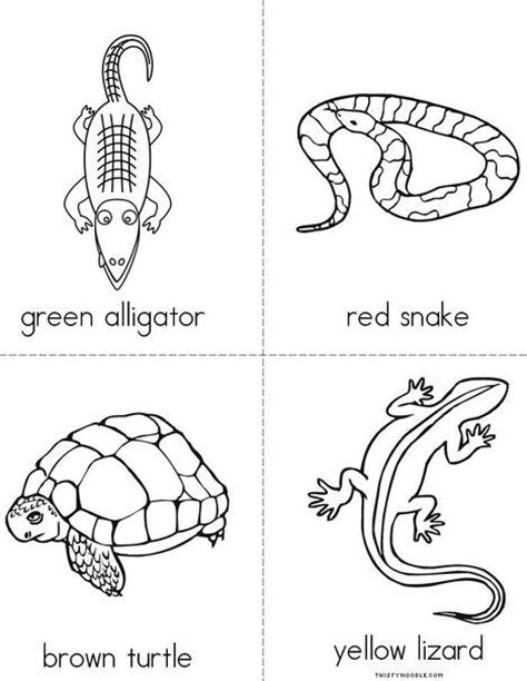 a and an worksheets for preschool color the reptiles mini book from twistynoodle 702