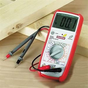Craftsman Digital Multimeter  Manual Ranging  30 Range  10