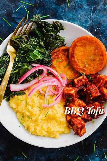 Southern Bowl Bbq Comfort Grits Tofu Greens
