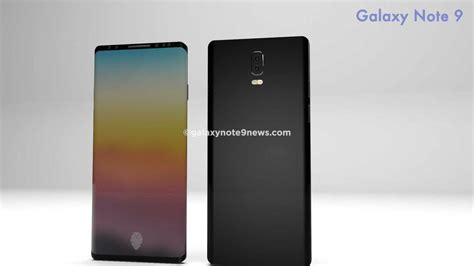 galaxy note galaxy note 9 concept images suggest design of new phone