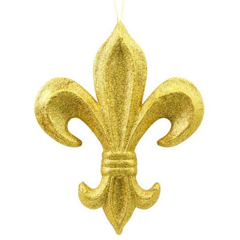 "10"" Gold Glitter Fleur de Lis Ornament [MZ166808 ..."