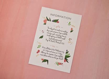 Botanical Wedding Invitation Papermarc Melbourne Australia