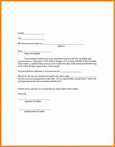 top result 20 lovely giving notice to landlord template With free rent increase form letter