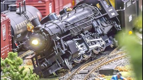 Model Train Crash And Action On An Amazing Display!