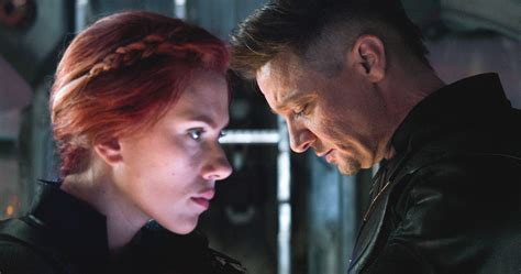 Black Widow Hawkeye Share Emotional Moment