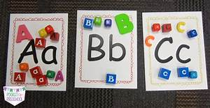 letter matching with manipulatives pocket of preschool With letter manipulatives