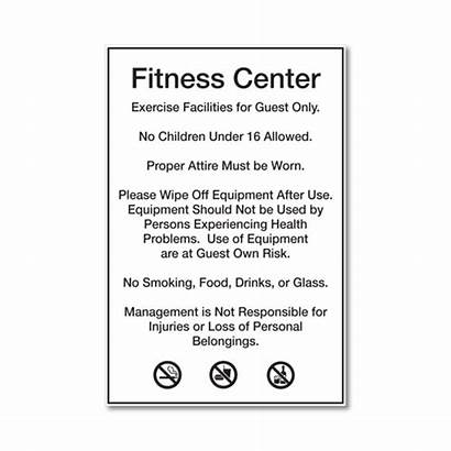 Fitness Rules Center Signs Western Hospitality Sign