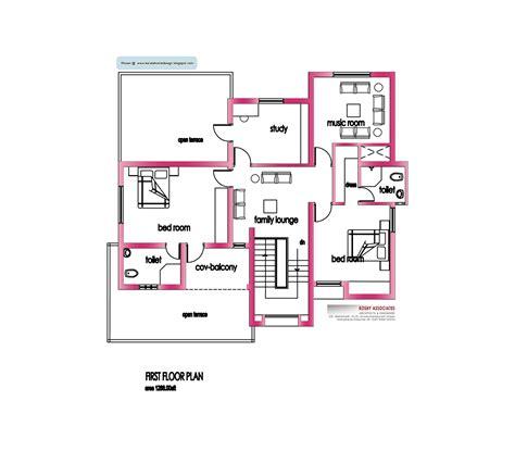modern house floor plans free modern house plan 2800 sq ft kerala home design and