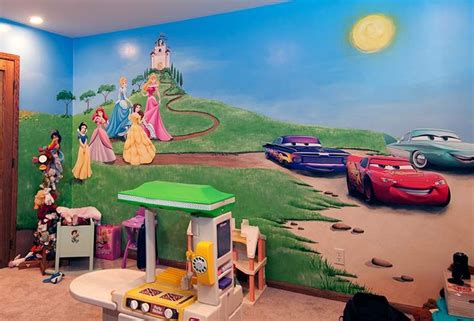playroom mural ideas children s playroom mural with wall decals school toilet ideas pinterest