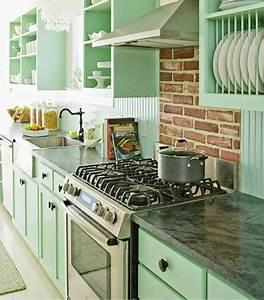 Vert D Eau Couleur : peinture vert d 39 eau une couleur d co pour salon et cuisine ~ Mglfilm.com Idées de Décoration