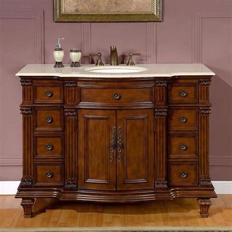 48 bathroom vanity with top and sink shop silkroad exclusive esther walnut undermount single