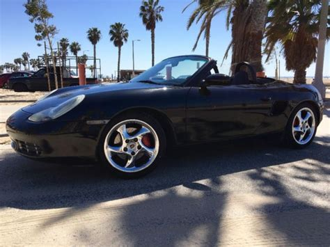 porsche sports car black 2001 porsche boxster 986 black 2 door convertible sports