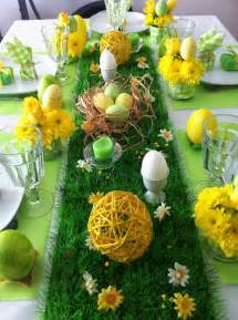 d 233 coration de p 226 ques pour table 24 id 233 es sympas en vert et jaune