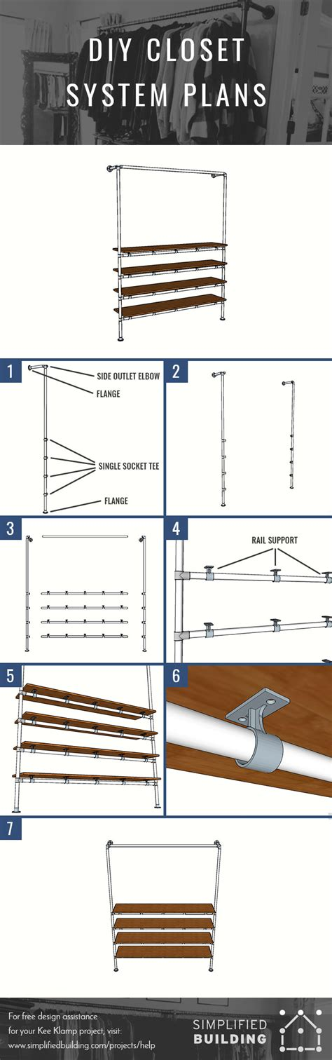 Diy Closet System Plans by Diy Closet System Built With Pipe Fittings Plans