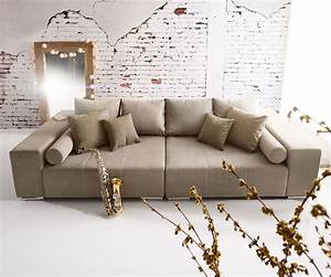 Big Sofas Günstig : big sofa marbeya 285x115 cm grau 10 kissen m bel sofas big ~ A.2002-acura-tl-radio.info Haus und Dekorationen