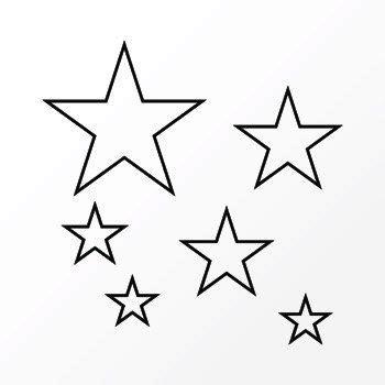 tatouage temporaire etoiles creuses par lamodefr sur etsy