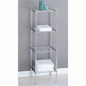 Bathroom shelf for Metal bathroom shelving unit