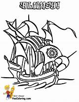 Pirate Ship Coloring Hard Boys Yescoloring Pirates Seas sketch template