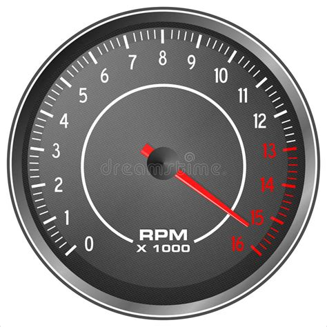 Motorbike Tachometer Stock Illustration. Illustration Of